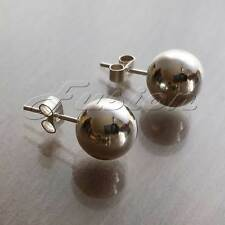 NEW Sterling 925 Silver 10mm Round Ball Bead Stud Earrings (J065)