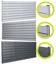Designer Radiator Horizontal Flat Panel White Silver Anthracite Single x Double