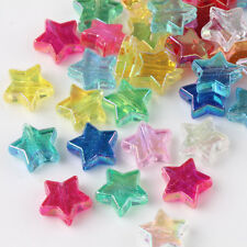 50/100Pcs Mixed Acrylic Pentagram Loose Spacer Beads Necklaces Findings DIY 10mm