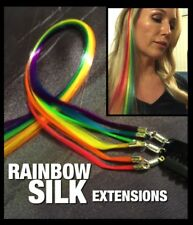 Synthetic Hair Extensions Ladies Party Clip Accessory Rainbow and 5 Fun designs
