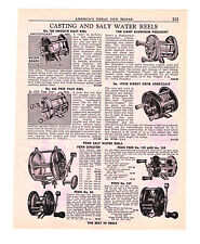 1954 AD FISHING CASTING AND SALT WATER REELS SHAKESPEARE PRESIDENT PENN SENATOR