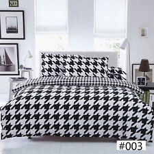 NEW Single Double Queen King Size Bed Set Quilt Duvet Cover Pillow Case Big Star