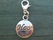 Hope Message Charm for European or Traditional Charm Bracelet  Cancer Awareness