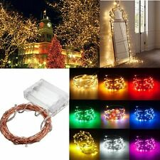LED Battery Powered String Wire Fairy Light Lamp Xmas Wedding Decor 2/3/4/5/10 M