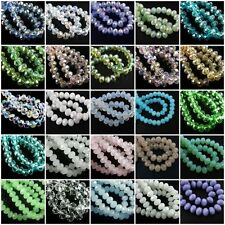 20Pcs 10mm Faceted Glass Loose Crystal Beads Spacer Rondelle Findings Charms New