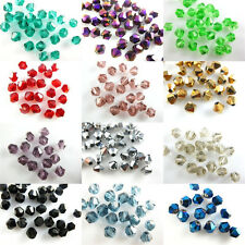 NEW 200Pcs Glass Crystal Faceted Bicone Beads 4mm Loose Spacer Jewelry Findings