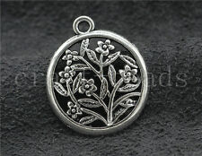 8/30/150pcs Tibetan Silver exquisite Plum flower Jewelry Charms Pendant 27x23mm