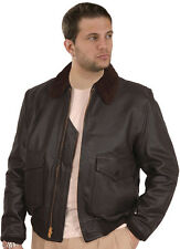 G1 Navy COWHIDE Leather Bomber Jacket
