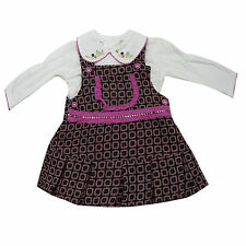 New Laura Ashley Baby Long Sleeve Winter Girls Dress Clothes Size 12 18 24 Month