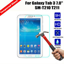 "Premium Tempered Glass Screen Protector for SAMSUNG GALAXY Tab 3 7 "" T211 T210"