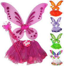 Fairy Butterfly Tinker Bell Pixie Costume Tutu Skirt Wings Wand Party Dress Up