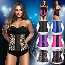 Ladies Body Shaper Latex Rubber Waist Trainer Cincher Underbust Corset Shapewear