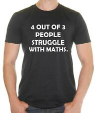 '4 out of 3 people struggle with Math' Geek funny T-shirt - Mens Funny T-Shirt