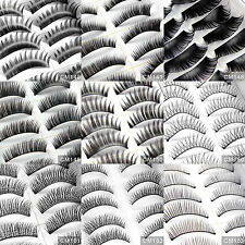 20 Pairs Long Black Natural Thick False Eyelashes Fake Eye Lashes Make Up