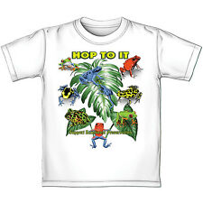 Rainforest Frogs Color Changing YOUTH 100% Cotton Preshrunk Tee Shirt