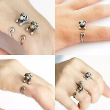 Puppy Dog Ring Animal Ring Bronze Silver Finger Size 4 to 8.5 US