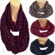 Gorgeous Floral With Just A Hint Of Sparkle Circle Loop Infinity Scarf Snood