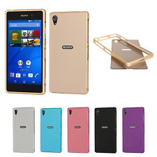 Luxury Slim Aluminum Bumper Frame   PC Plastic Case Cover for Sony Xperia Z2