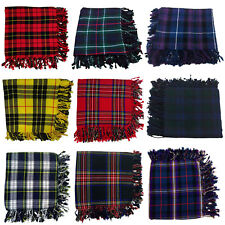 "NEW Scottish Piper Kilt Fly Plaid Various Tartans 48"" X 48""/KILT FLY PLAIDS"