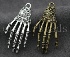 5/20/100pcs Antique Silver Exquisite Bone claws Jewelry Charms Pendant 42x20mm