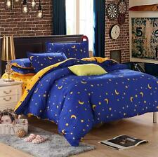Sky Star Moon Single Double Queen King Size Bed Set Pillowcase Quilt Duvet Cover