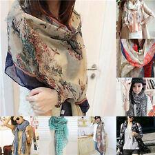 Fashion Winter Womens Ladies flowers Voile Soft Long Shawl Scarf Wrap Stole New
