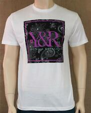 Young & Reckless Black Paisley Logo Fill Graphic Crew Tee Mens White T-Shirt NWT