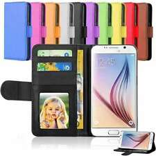 Flat Leather Flip Stand Wallet Case Card Photo Cover For Samsung Galaxy note S7