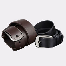 New Mens Leather Belts Vintage Metal Buckle Waistband Classic Belts Waist Strap