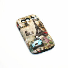 Paris Eiffel Tower & Car Hybrid Shockproof Case For Samsung Galaxy S3 I9300