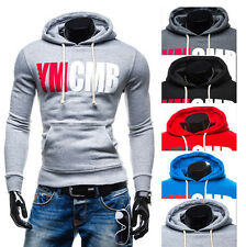 Men Winter Slim Hoodie Warm Hooded Sweatshirt Coat Jacket Outwear Sweater Tops E