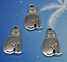 Wholesale 6/20/50/100pcs retro style Lovely cat alloy charms pendant 19x11mm