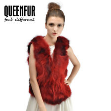 Queenfur Real Raccoon Fur Vest Natural Raccoon Fur Gilet Women Winter Waistcoat