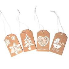 Christmas Gift Tags Luggage Labels (Pack of 52) Greetings Cards Vintage Hang Tag