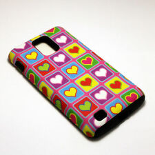 Heart Pattern Hybrid ShockProof Phone Cover Case For Samsung Infuse 4G I997
