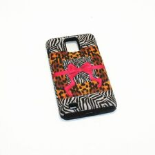 Safari Ribbon & Bow Hybrid ShockProof Cover Case For Samsung Infuse 4G I997
