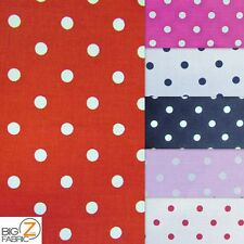 100% COTTON QUILT POLKA DOT PRINTED FABRIC HEADSCARF HANDKERCHIEF SOLD BY YARD