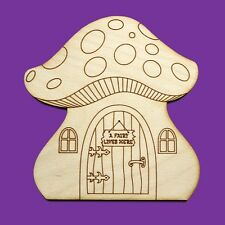 Fairy Door  Wooden Mushroom House Plain Blank Craft Shapes Pixie Plywood MF1