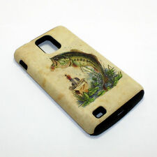 Fishing Bass Hybrid ShockProof Phone Cover Case For Samsung Infuse 4G I997