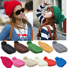 Hot Women Lady Wool Knit Knitted Beanie Crochet Warm Pumpkin Cap Ski Hat 044