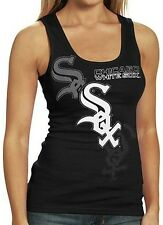 Chicago White Sox MLB Majestic Womens Her Pearl Tank Top Black Plus Sizes