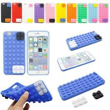 3D Lovely Block Soft Silicone Gel Skin Case Cover For Apple iPhone 6 Plus 5.5""