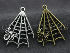 Free shipping 5/20/100pcs Antique Silver Cobweb Jewelry Charms Pendant 32x23mm