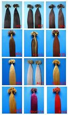 "200S 16"" 18"" 20"" 22"" 24"" 26"" NAIL TIP HUMAN HAIR EXTENSIONS wavy curly straight"