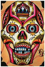 Muerto II Fine Art Print by Ryan Downie Sugar Skull Day of the Dead Tattoo