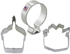3 Piece Birthday Party Cookie Cutter Set Cupcake Gift Balloon NEW! Cookies
