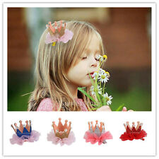 Cute Lovely Crown Hairpin Lace Children Girls Baby Kid Hair Clip Decor Accessory