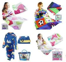 SNUGGLE UP KIDS BOYS & GIRLS COSY TV BLANKET SOFT FLEECE WITH SLEEVES & POCKET