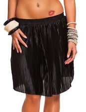 Ladies Pleated Skirt Mini Evening Party in 3 colours Size 34/36
