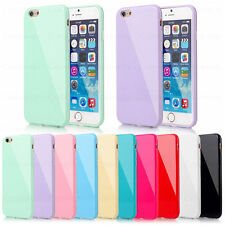 Rubber Silicone Gel Case Cover For iPhone 4 4S 5 5S 5C 6S Plus +Screen Protector